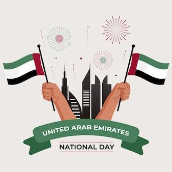 Flat design vae nationalfeiertag veranstaltung