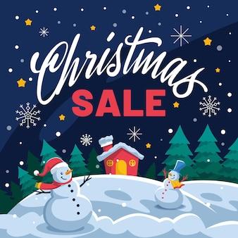 Flat design weihnachtsverkauf