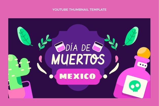 Flat dia de muertos youtube thumbnail