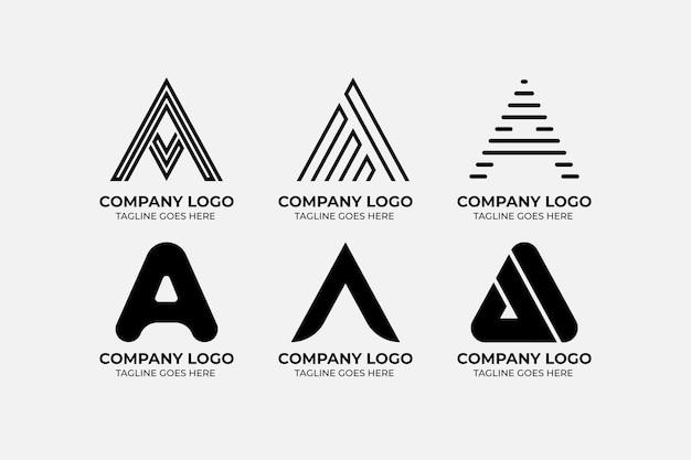 Flat eine sammlung von logo-vorlagen