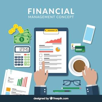 Flat finance konzept mit professionellem stil
