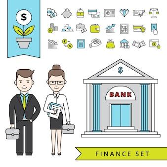 Flat finance-konzept