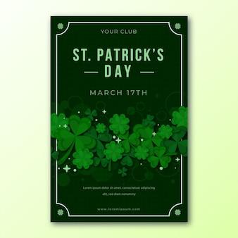 Flat flyer für st. patrick's day