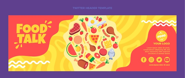 Flat food twitter-header