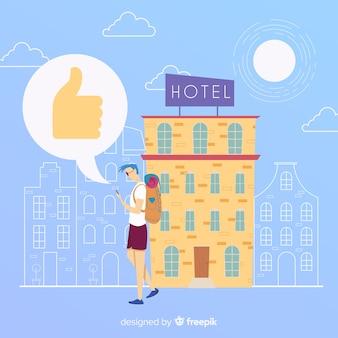 Flat hotelbewertung hintergrund