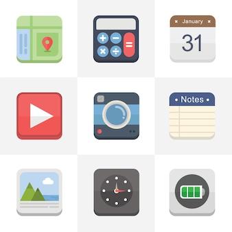 Flat icons für ui design