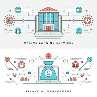 Flat line banking und finanzmanagement