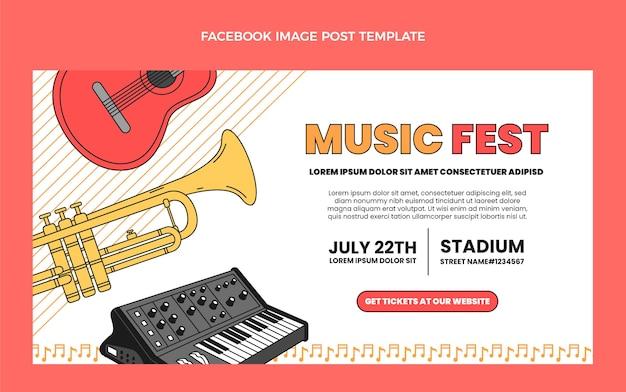 Flat minimal music festival facebook-post