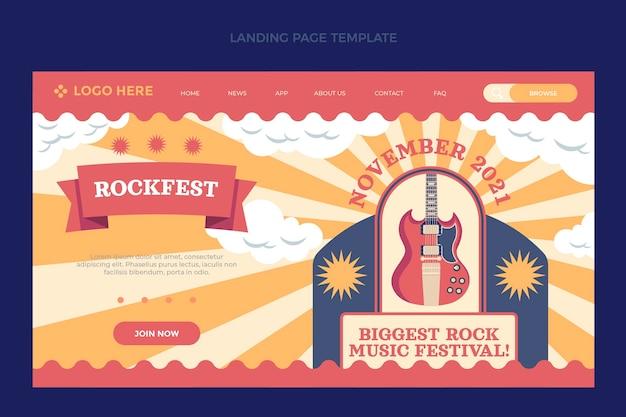 Flat minimal music festival landingpage