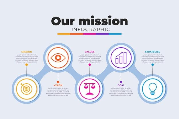 Flat our mission infografik