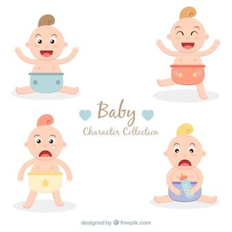 Flat pack von niedlichen babys