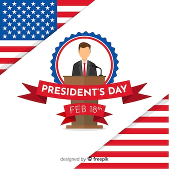 Flat president day hintergrund