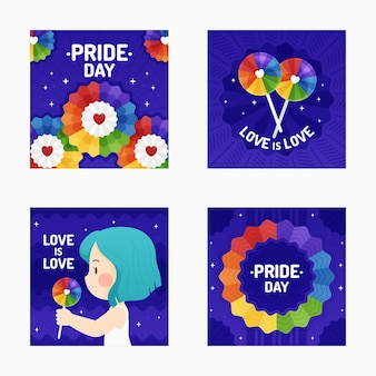 Flat pride day instagram beiträge sammlung