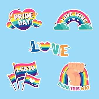 Flat pride day label kollektion