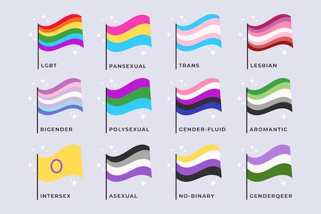 Flat pride flaggenkollektion