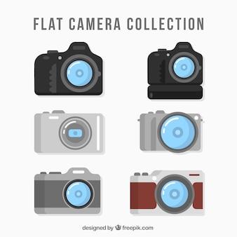 Flat professionelle kamera sammlung