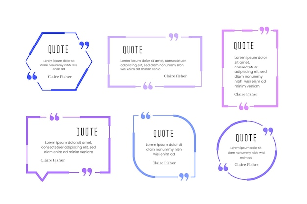Flat quote box frames sammlung