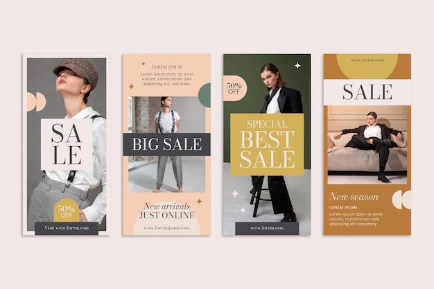 Flat sale instagram story set mit foto