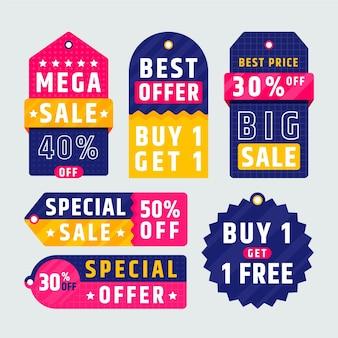 Flat sale tag sammlung Kostenlosen Vektoren