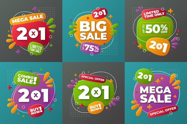 Flat sale und discount label kollektion