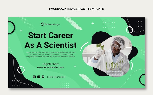 Flat science facebook-post
