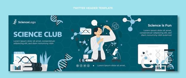 Flat science twitter-header Kostenlosen Vektoren