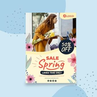 Flat spring sale flyer a5 vertikal