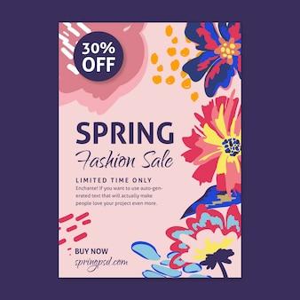 Flat spring sale flyer