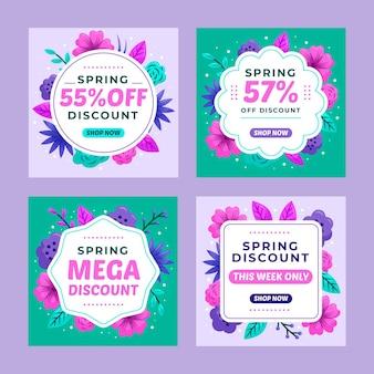 Flat spring sale instagram beiträge pack