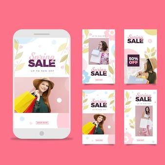 Flat spring sale instagram geschichten packen