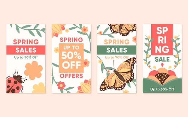 Flat spring sale instagram geschichten