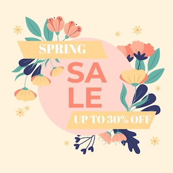 Flat spring sale promo