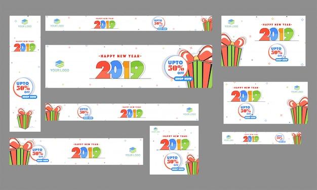 Flat-stil-header, banner und vorlage design-kollektion mit 50