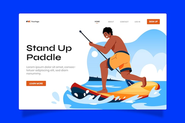 Flat sup illustrierte webvorlage