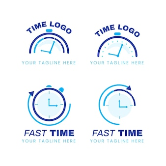 Flat time logo sammlung