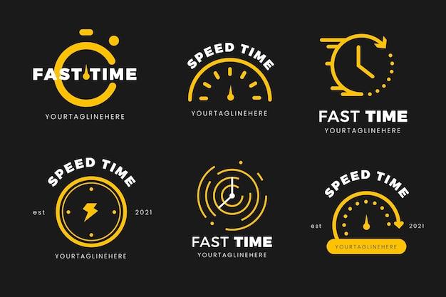 Flat time logo vorlagen sammlung