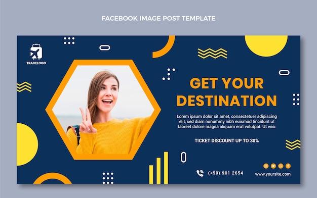 Flat travel facebook-post