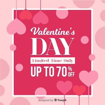 Flat valentine verkauf hintergrund