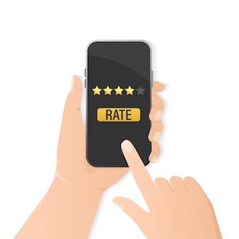 Flatrate-smartphone für das design mobiler geräte.