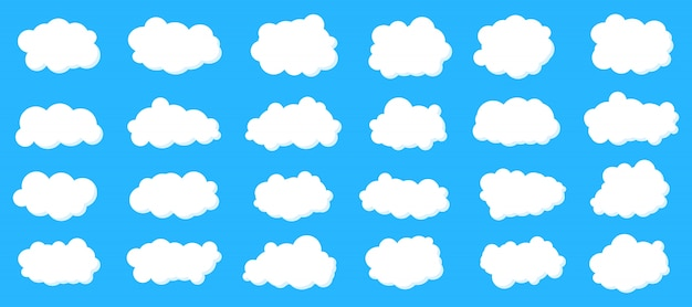 Flauschige himmel wolken gesetzt.