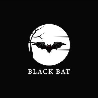 Fledermaus logo design vorlage