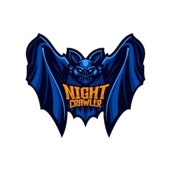Fledermaus maskottchen logo vorlage
