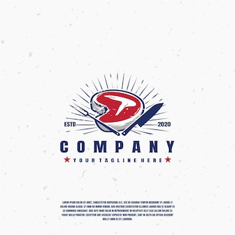 Fleisch grill rauchhaus logo premium