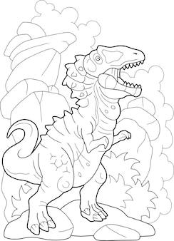 Fleischfressender dinosaurier
