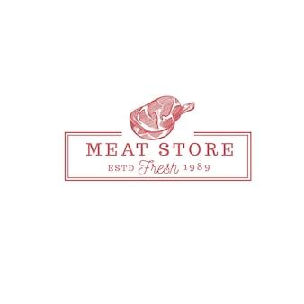 Fleischladen essen vintage logo vintage