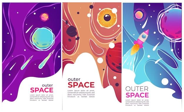 Fliegen gestartete raketen, kometen und planeten, sterne und himmelskörper