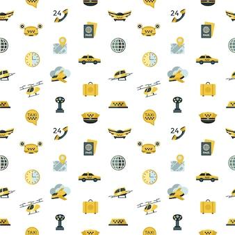 Fliegen taxi icons sammlung