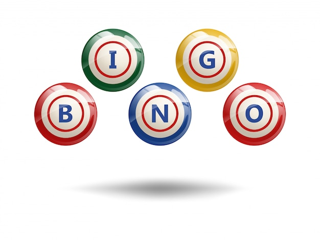 Fliegende bingobälle