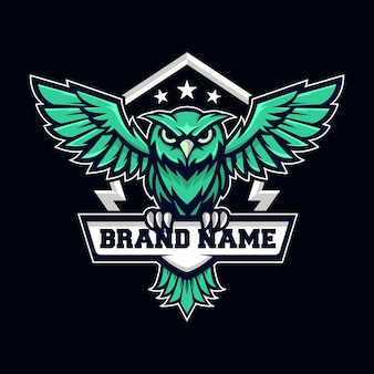 Fliegende eule logo