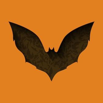 Fliegende fledermaus papierschnitt stil halloween